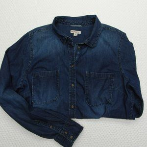 Women's Merona Denim Shirt Sz XL
